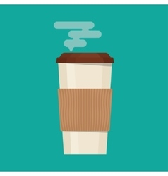Coffee cup in flat style vector image