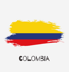 Colombia watercolor national country flag icon vector