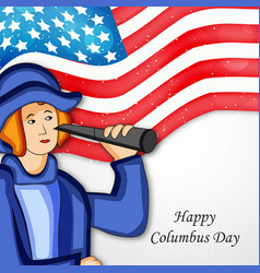Columbus day background vector