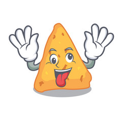 crazy nachos mascot cartoon style vector image
