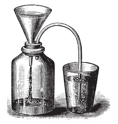 Cup and jar vintage vector