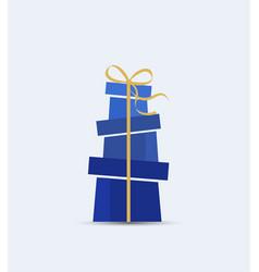 decorative christmas presents vector image