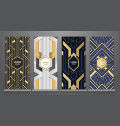 design templates art deco booklets set vector image