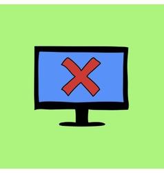Doodle color error sign vector