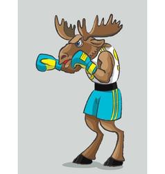 Elk - boxer vector