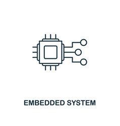 embedded system icon thin line style industry 40 vector image