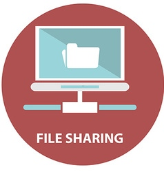 File sharing concept Folder with Documents Icon vector image