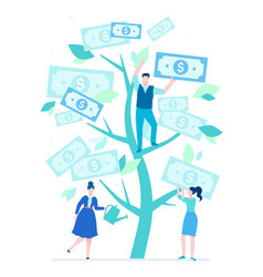 Financial success - flat design style colorful vector