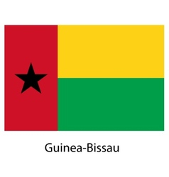Flag of the country guinea bissau vector image