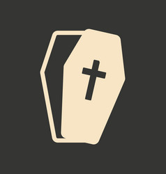 flat in black and white mobile application coffin vector image
