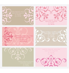 floral business card set vector image