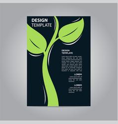 flyer brochure poster go green nature modern vector image