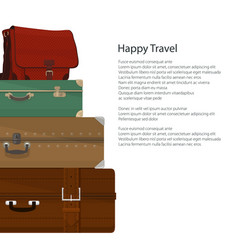 Flyer travel and tourism concept vector
