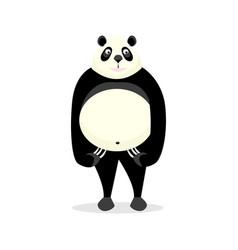 funny bear panda vector image