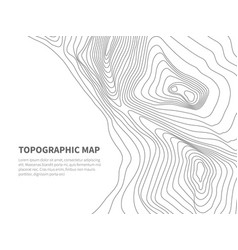 geodesy contouring land topographical line map vector image