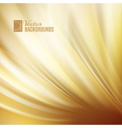 Gold abstract swirl vector image