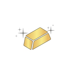 Gold bars computer symbol vector