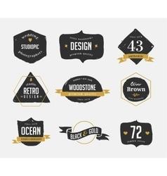 hand drawn vintage retro labels and logo vector image