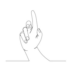 hand isolated on white background vector image