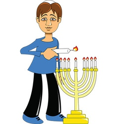 Hannukah candle design vector image