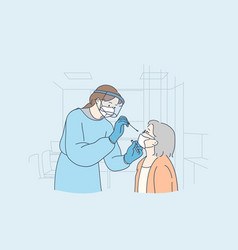 healthcare and medical testing for covid-19 vector image