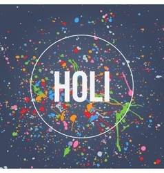 Holi Banner with Splashes of Paint vector