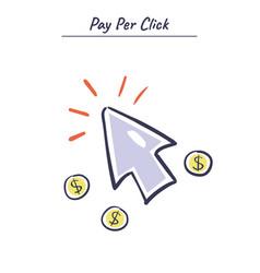 Internet marketing concept pay per click vector