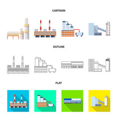 Isolated object of production and structure icon vector