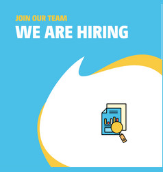 join our team busienss company search document we vector image