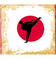 Karate Grunge poster vector