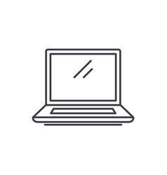 laptop line icon concept laptop linear vector image