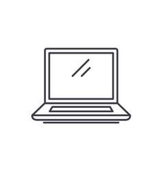 laptop line icon concept laptop linear vector image