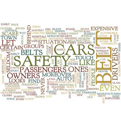 Let s belt up what for text background word cloud vector