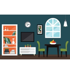 Living room interior decoration design vector image