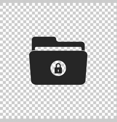 locked folder icon on transparent background vector image