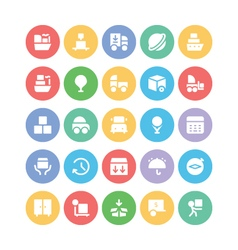 Logistics delivery icons 6 vector