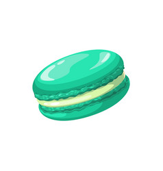 Macaroon or ratafia cake isolated pastry food vector