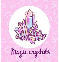 magical crystals Jeweler card vector image