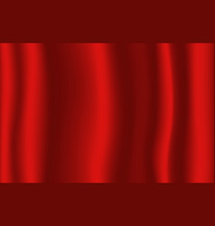 Majestic red color silk fabric for background vector