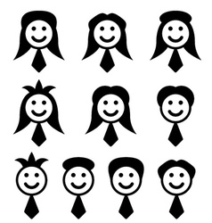Male female face symbols vector