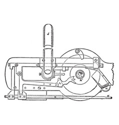 Mechanism of minting press from royal mint vector