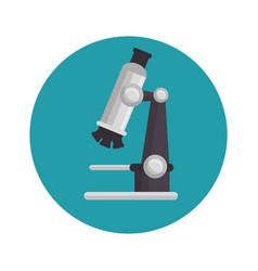Michroscope laboratory device icon vector