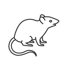 Mouse linear icon vector