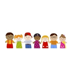 Muli-racial children set vector image