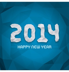 New year - 2014 origami message design vector