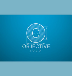 ogo template letter o in the style of a vector image vector image