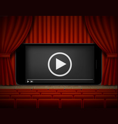online cinema poster template realistic vector image