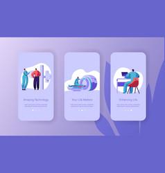 online patient diagnostic idea mobile app page vector image