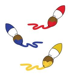 Paint brush cartoon vector image