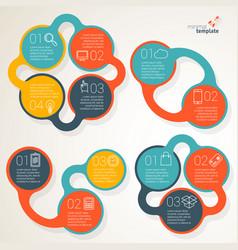 part three presentation template design vector image